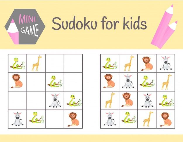Gioco di sudoku per bambini