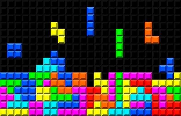 Gioco di tetris retrò in mattoni