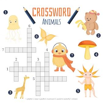 Gioco educativo per bambini sugli animali