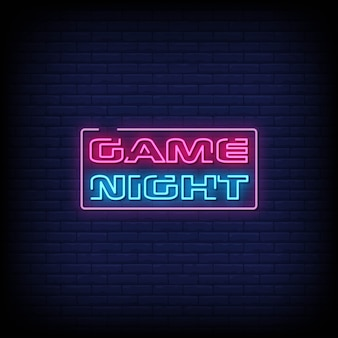 Gioco night neon signs style text