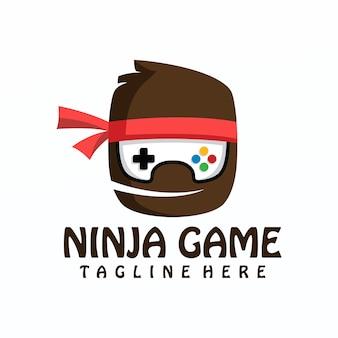 Gioco ninja logo vettoriale, modello