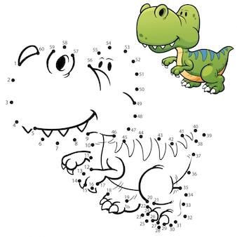 Gioco per bambini dinosauro punto per punto