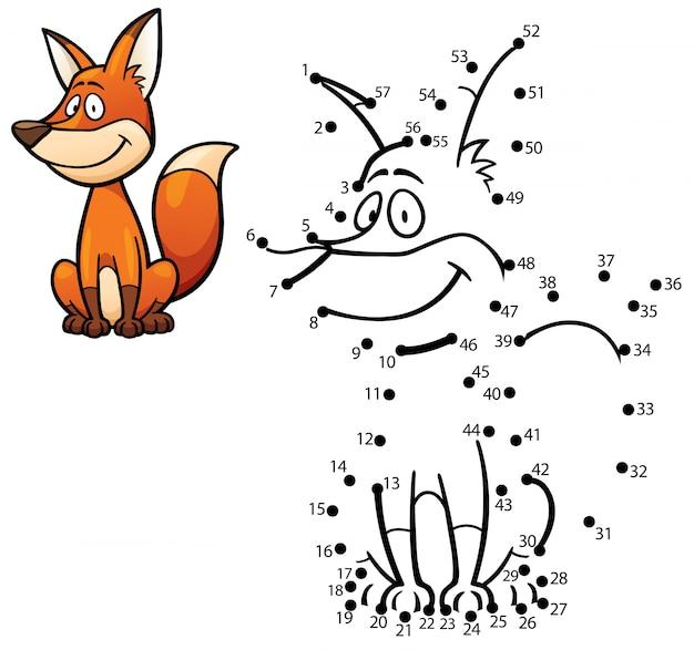 Gioco per bambini punto per punto fox