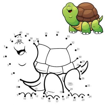 Gioco per bambini tartaruga punto per punto