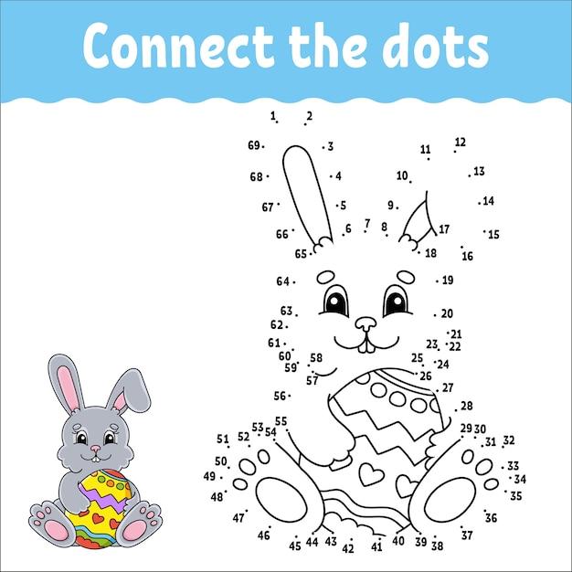 Gioco punto per punto. disegna una linea. per bambini. foglio di lavoro dell'attività. libro da colorare. con risposta.
