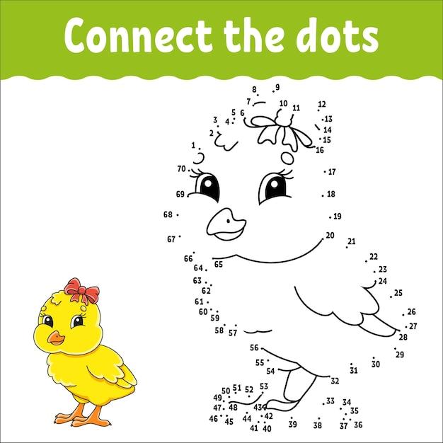 Gioco punto per punto. disegna una linea. per bambini. foglio di lavoro dell'attività. libro da colorare.