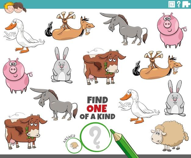 Gioco unico nel suo genere per bambini con animali da fattoria