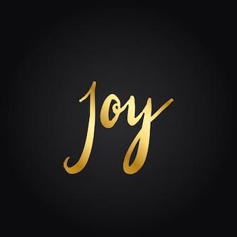 Gioia e felicità stile tipografia vettoriale