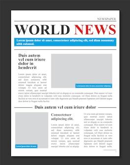 Giornale quotidiano, notizie promozionali aziendali