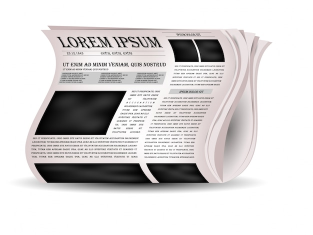 Giornali di vettore e icona di notizie.