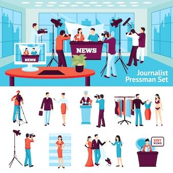 Giornalista e pressman set
