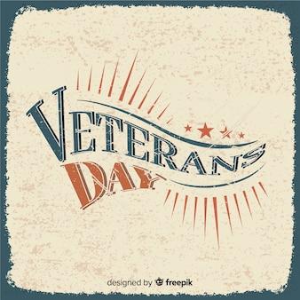 Giornata dei veterani retrò lettering