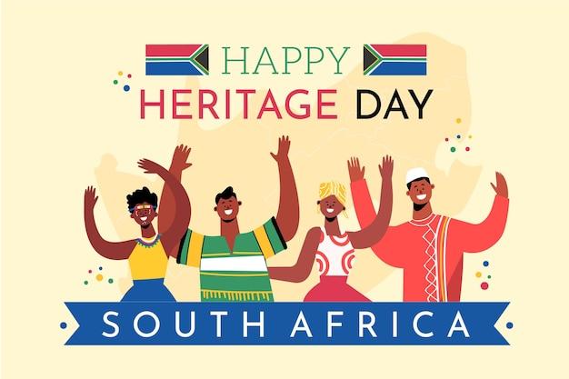 Giornata del patrimonio sudafrica con saluto