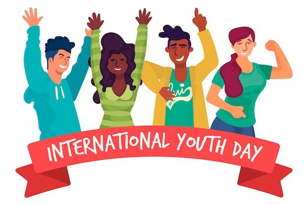 Giornata della gioventù design piatto