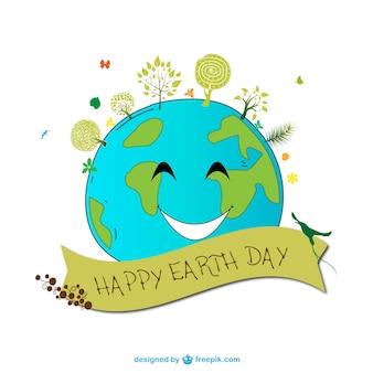 Giornata della terra vettoriale cartoon