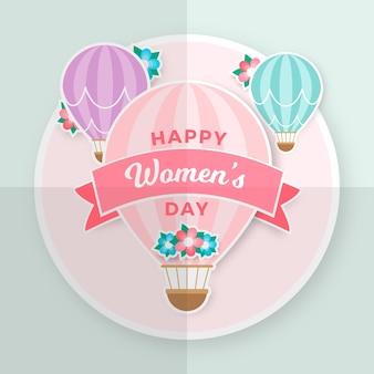 Giornata delle donne colorate in stile carta
