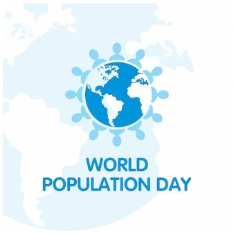 Giornata di popolazione mondiale astratto sfondo