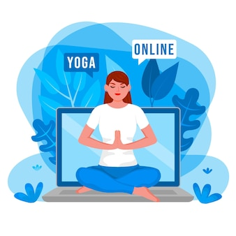 Giornata internazionale dei corsi online di equilibrio del corpo yoga