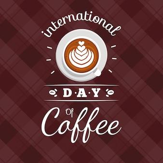 Giornata internazionale del caffè di design piatto