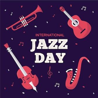 Giornata internazionale del jazz in stile piatto