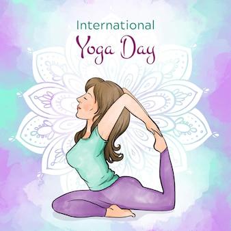 Giornata internazionale dell'acquerello di yoga