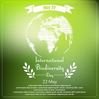 Giornata internazionale della biodiversità della tipografia della forma