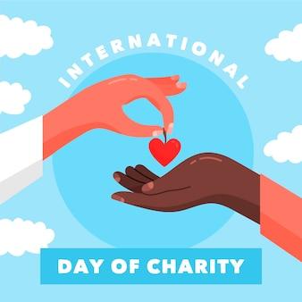 Giornata internazionale della carità disegnata a mano