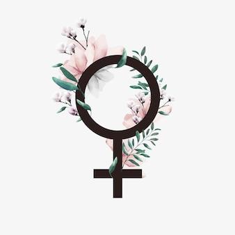 Giornata internazionale della donna. segno di donna