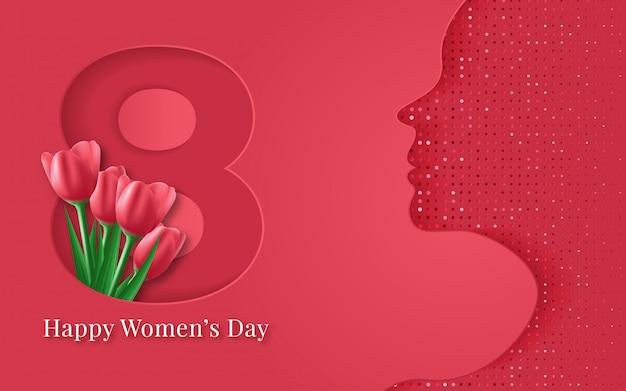 Giornata internazionale della donna sullo sfondo.