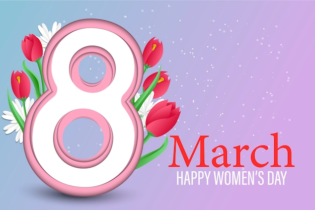 Giornata internazionale della donna sullo sfondo