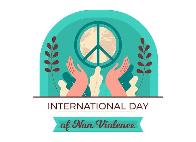 Giornata internazionale della non violenza di design piatto
