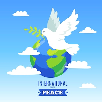 Giornata internazionale della pace con terra e colomba