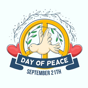 Giornata internazionale della pace disegnata a mano