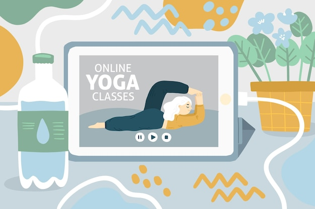Giornata internazionale della pace interiore disegnata a mano yoga