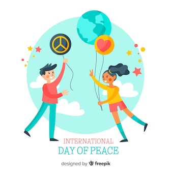 Giornata internazionale della pace sullo sfondo