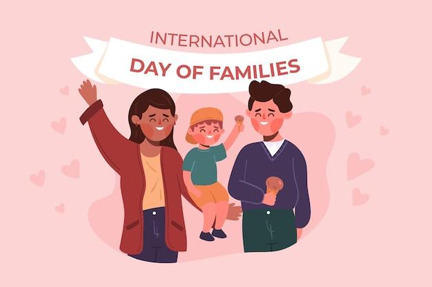 Giornata internazionale delle famiglie in stile piatto