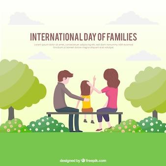 Giornata internazionale delle famiglie sullo sfondo