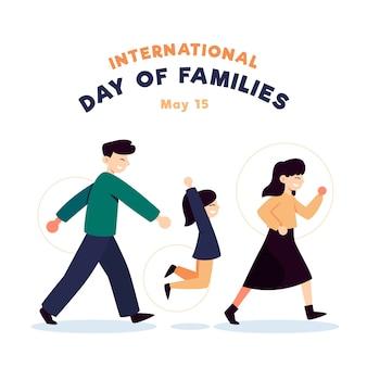 Giornata internazionale piatta delle famiglie