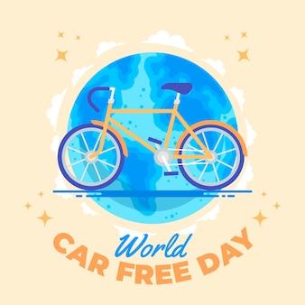 Giornata libera del mondo dell'automobile di progettazione piana
