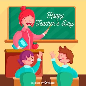Giornata mondiale degli insegnanti di design piatto