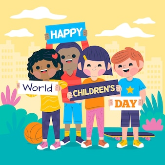 Giornata mondiale dei bambini design