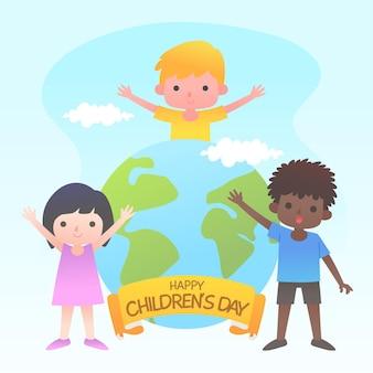 Giornata mondiale dei bambini di design piatto