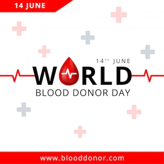 Giornata mondiale dei donatori di sangue, 14 giugno illustrazione del concetto di donazione di sangue per banner.