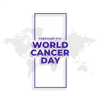 Giornata mondiale del cancro 4 febbraio sfondo degli eventi