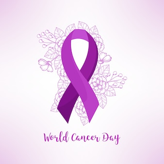 Giornata mondiale del cancro piatto