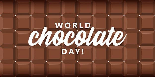 Giornata mondiale del cioccolato sullo sfondo