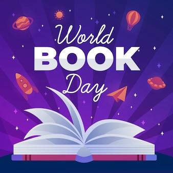 Giornata mondiale del libro design piatto