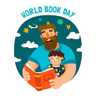 Giornata mondiale del libro in stile piatto