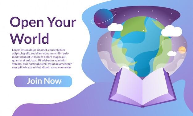 Giornata mondiale del libro per la pagina di destinazione