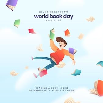 Giornata mondiale del libro sullo sfondo